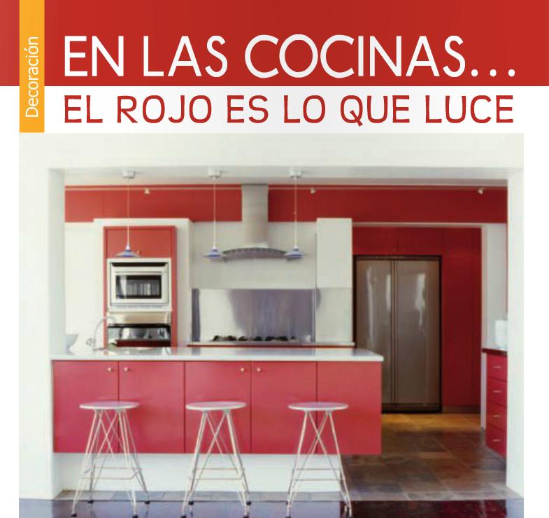 En las cocinas el rojo es lo que luce wow by adriana - Cocinas rojas modernas ...
